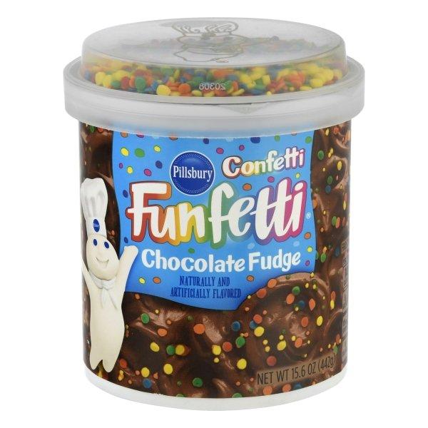 Pillsbury Funfetti Confetti™ Chocolate Fudge Flavored Frosting