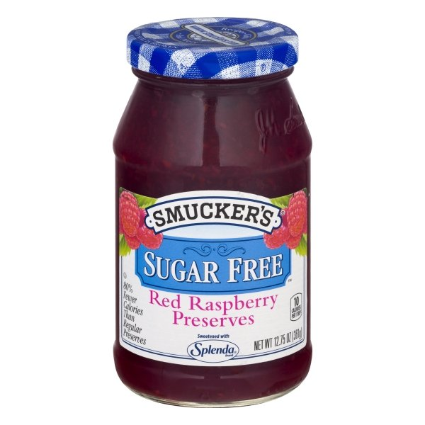 Smucker's Sugar Free Red Raspberry Preserves with Splenda Brand Sweetener