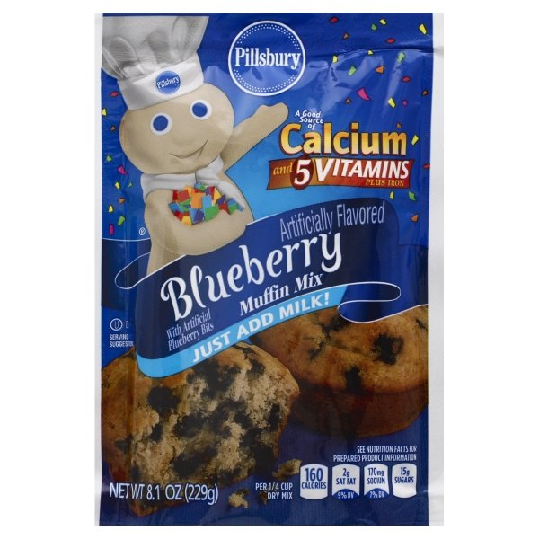 Pillsbury  Blueberry Flavored Muffin Mix