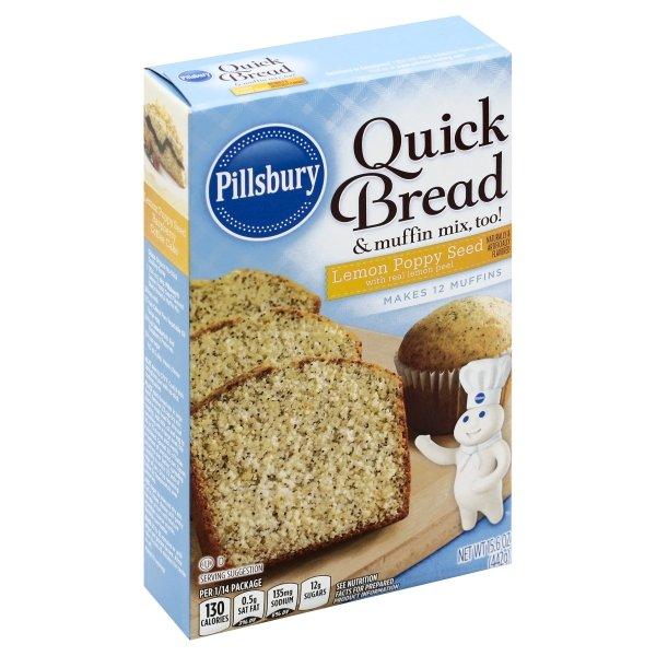 Pillsbury  Lemon Poppy Seed Flavored Quick Bread & Muffin Mix