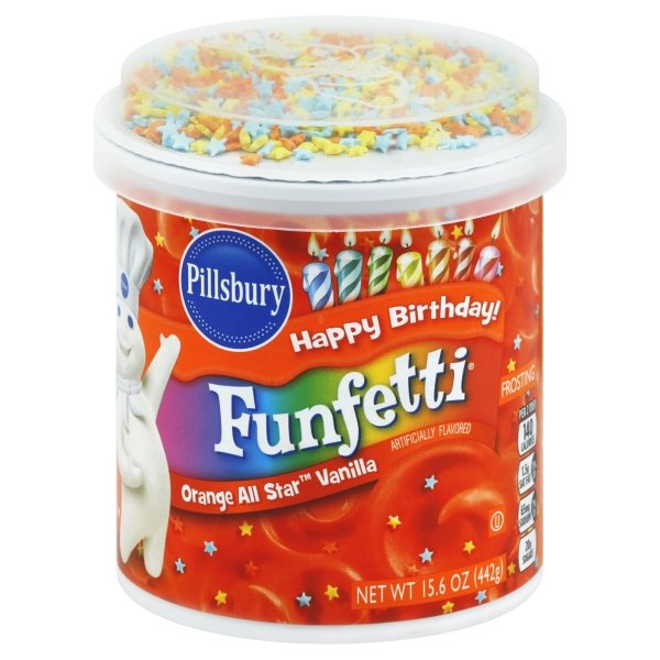 Pillsbury Funfetti Orange All Star™ Vanilla Flavored Frosting