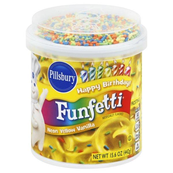 Pillsbury Funfetti Neon Yellow Flavored Vanilla