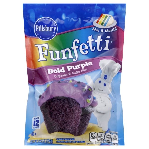 Pillsbury  Funfetti® Bold Purple Cupcake & Cake Mix