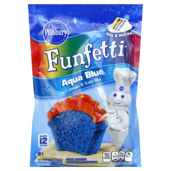 Pillsbury™ Baking  Funfetti® Aqua Blue Cupcake & Cake Mix