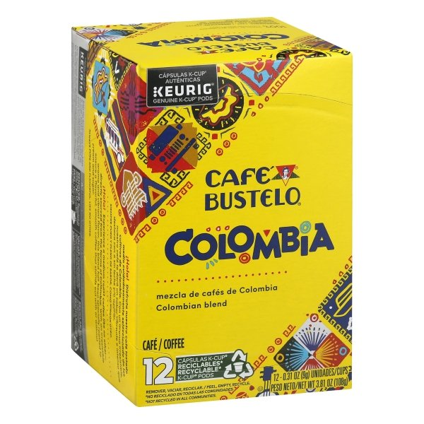 Cafe Bustelo  100% Colombian K-Cup® Pods, 12 Count