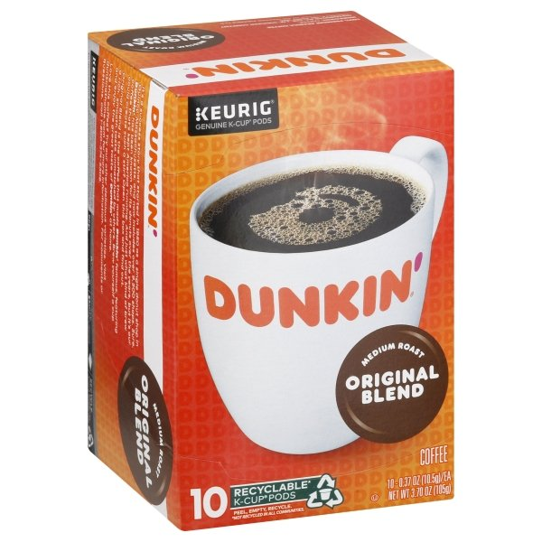 Dunkin' Donuts  Original Blend K-Cup Pods, 10 Count