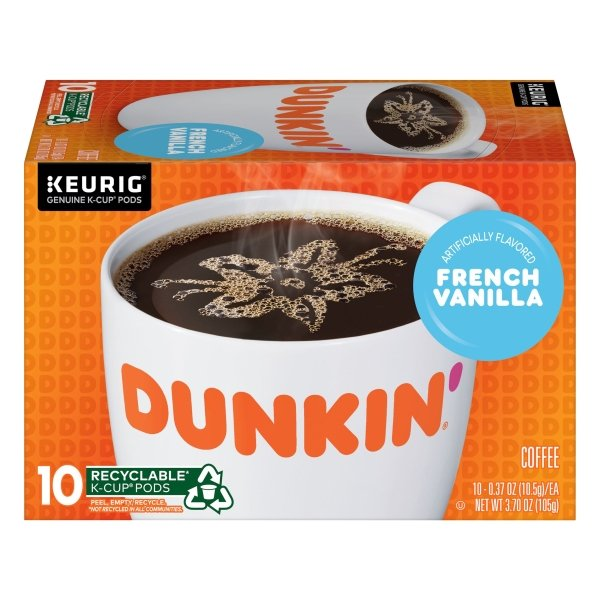 Dunkin' Donuts  French Vanilla K-Cup® Pods, 10 Count