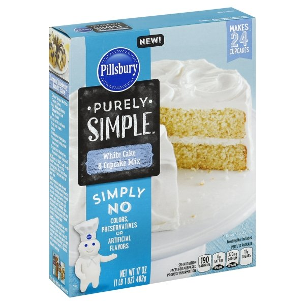 Pillsbury Purely Simple White Cake & Cupcake Mix