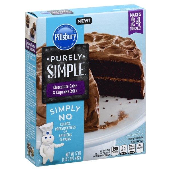 Pillsbury Purely Simple Chocolate Cake & Cupcake Mix