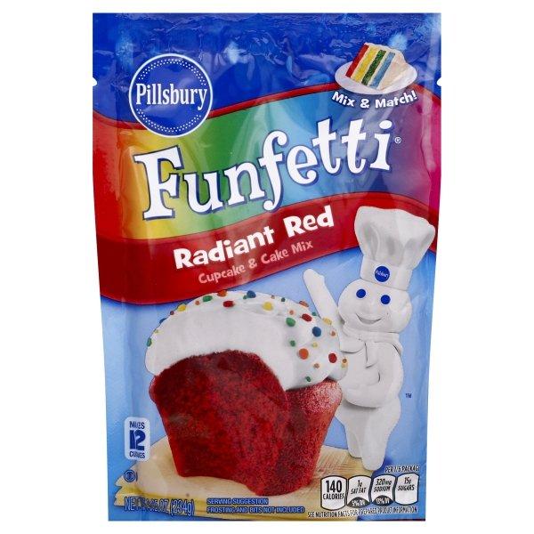 Pillsbury  Funfetti® Radiant Red Cupcake & Cake Mix