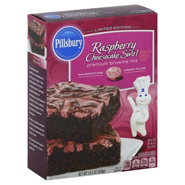 Pillsbury  Raspberry Cheesecake Swirl Premium Brownie Mix