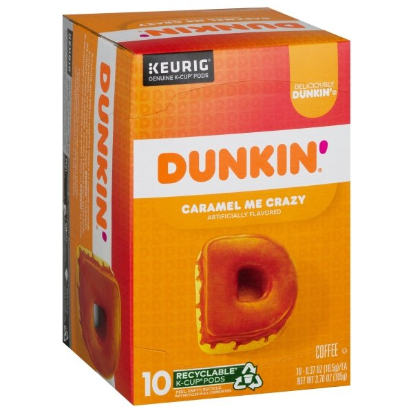 Dunkin' Donuts  Bakery Series® Caramel Coffee Cake Flavored K-Cup® Pods, 10 Count