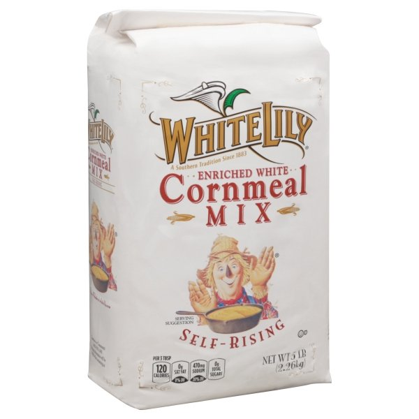 White Lily  Enriched Self-Rising White Corn Meal Mix