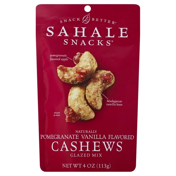 Sahale Snacks  Naturally Pomegranate Vanilla Flavored Cashews Glazed Mix